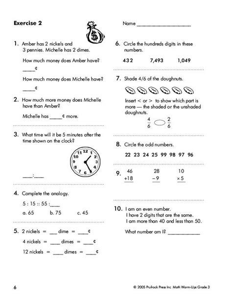Prufrock Press  Math Warmups Developing Fluency In Math (grade 3