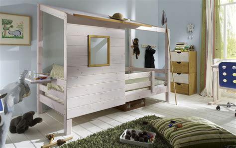 Abenteuerbett Mit Spielhaus Aus Holz  Kids Paradise