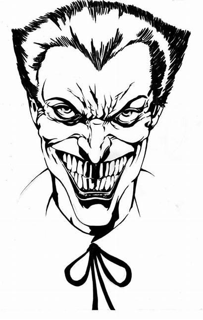 Joker Clipart Ink Clip Cartoon Drawing Cliparts