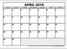 Balandžio 2018 kalendorius Download 2019 Calendar