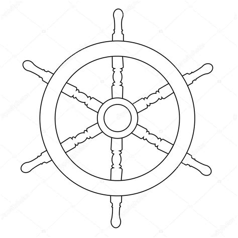 Boat Drawing Outline by Ship Wheel Outline Drawings Stock Vector 169 Viktorijareut