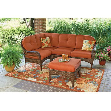 better homes and gardens patio furniture better homes and gardens azalea ridge 5 piece sectional sofa set seats 4 walmart com