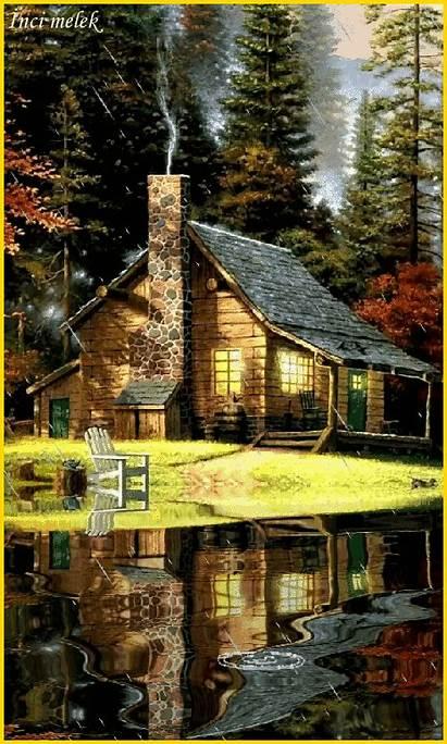 Landscape Google Cottage Animation Woodlands Cabin Cabins