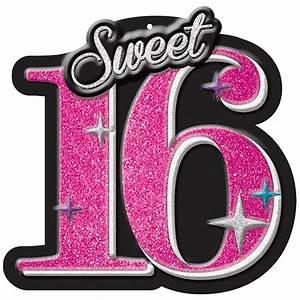 Sweet 16 Celebration Glitter Cut Out Zurchers