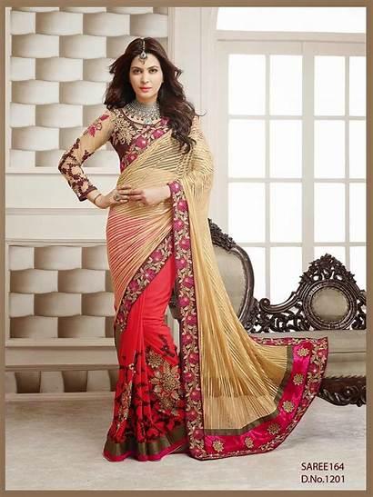Saree Latest Designer Sarees Bridesmaid Sleeves Try