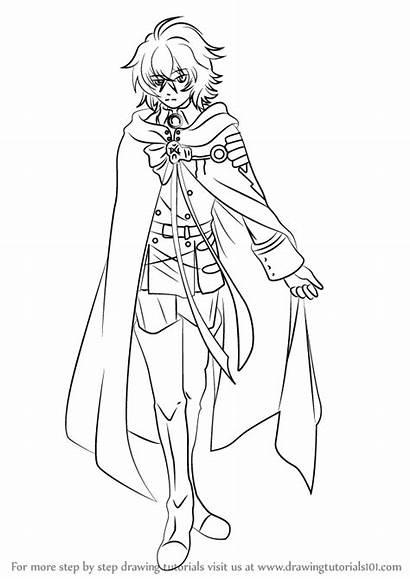 Seraph Owari Mikaela Hyakuya Draw Drawing Step