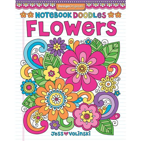 flower coloring books notebook doodles flowers coloring book walmart