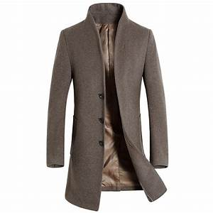 Aliexpress.com : Buy 2017 New Winter Men Wool Trench Coat ...