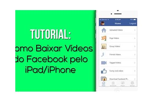 fb video baixar iphone