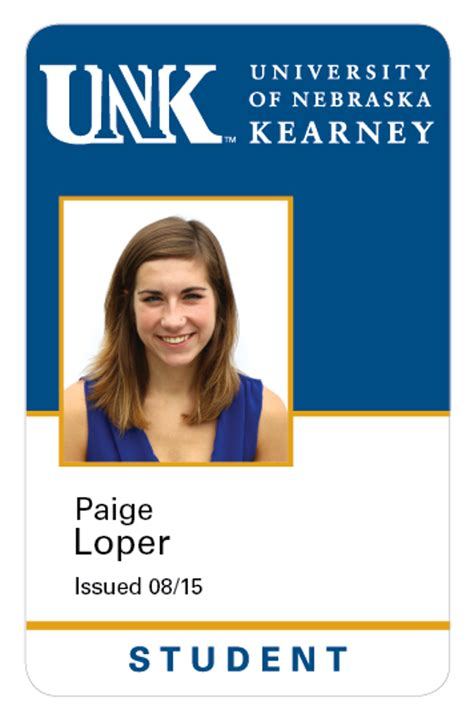 faculty id card template unk card services