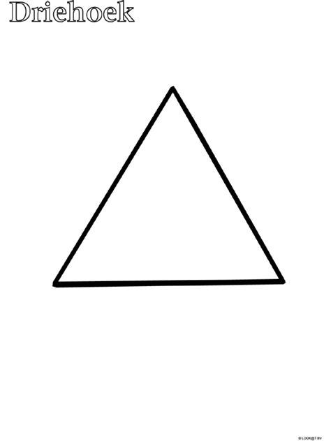 Gevarendriehoek Kleurplaat by Kleurplaat Peuter Kleurplaat Driehoek Kleurplaten Nl