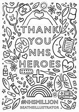 Nhs Poster Posters Colouring Baranowska Bea Support Million Help Teams Artists sketch template