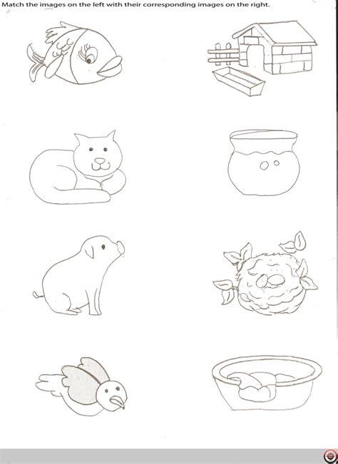 animal homes worksheet for kindergarten animals and