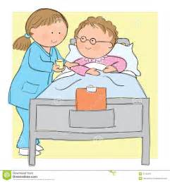 Nurse Caring Patient Clip Art
