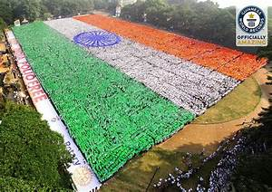 India sets new record for largest human flag breaking ...