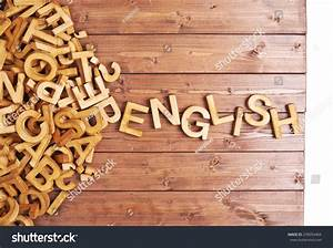 word english made block wooden letters stock photo With english block letters