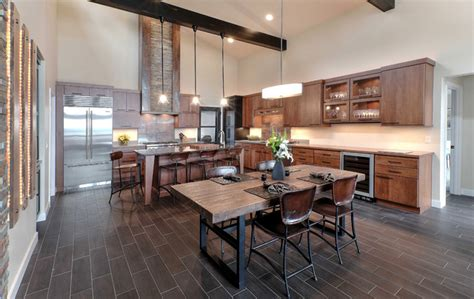 rustic modern retreat rustic kitchen