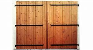 porte de garage deux vantaux bois maison travaux With porte de garage en bois