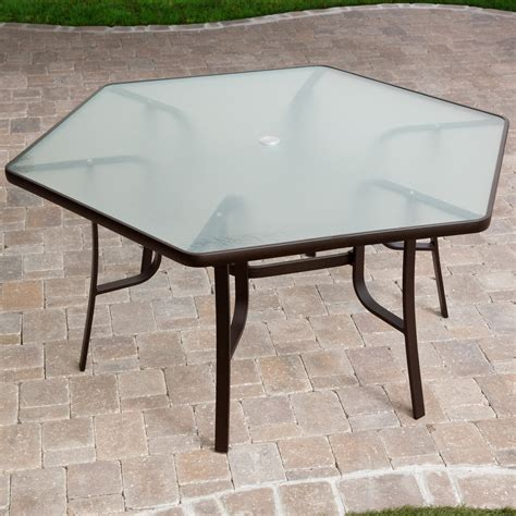 atlantis hexagon patio dining table at hayneedle
