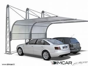 Pensilina in acciaio per posto auto Copertura per auto Airone DIMCAR