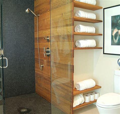 badezimmer regal holz badezimmer regale wandgestaltung holz glas trennwand