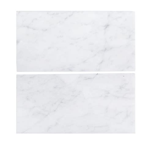 home depot marble tile 12x24 buy carrara white supreme 12x24 polished marble tile