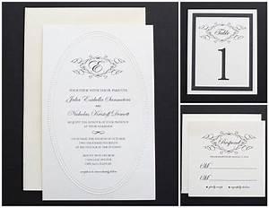 elegant black and white monogram wedding invitation 72 With black and white wedding invitations free download