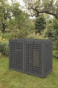 Mülltonnenbox Holz Anthrazit : bremer m lltonnenbox anthrazit 120 l doppel ~ Whattoseeinmadrid.com Haus und Dekorationen