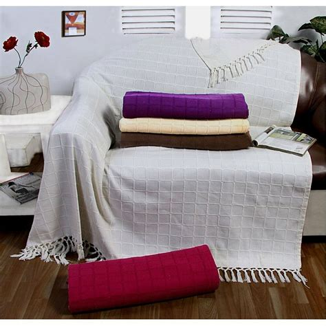 Throw Covers For Couches by Large 100 Cotton Sofa Throw Batten Woven 1 2 3 Seater