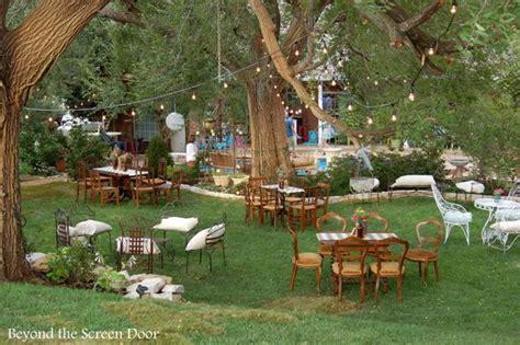 backyard wedding reception sonya hamilton designs