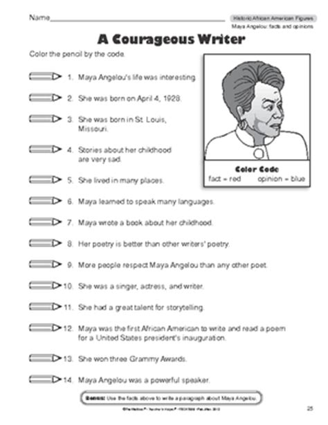 Printable Black History Worksheets  Results For Worksheets 2 Reading Informational Text Guest