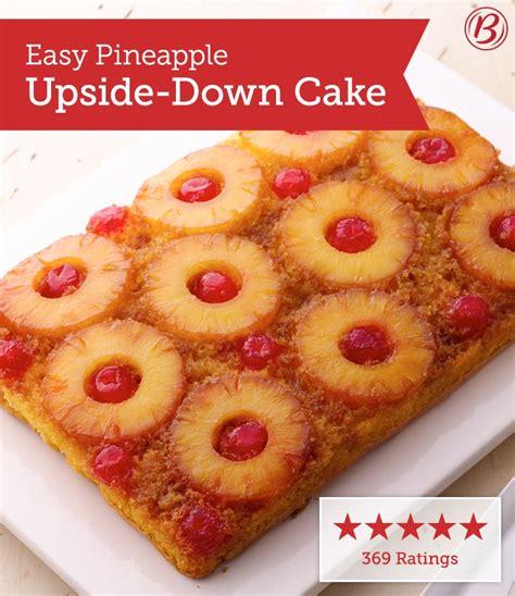 easy pineapple upside  cake recipe pineapple