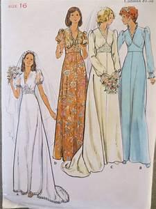 vintage butterick 3774 sewing pattern 1970s dress pattern With butterick wedding dress patterns