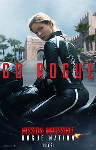 Mission Impossible 5 : go rogue with 6 new 39 mission impossible rogue nation 39 character posters ~ Medecine-chirurgie-esthetiques.com Avis de Voitures