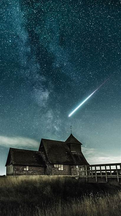 Shooting Star Iphone Night Meteor Wallpapers Starry