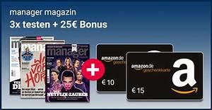 Amazon Gutschein Prüfen : 3x manager magazin f r 17 90 25 amazon gutschein ~ Markanthonyermac.com Haus und Dekorationen