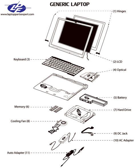 Dell Repair Diagram dell studio pp39l laptop parts dell studio laptop