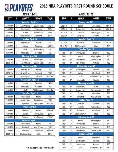 nba playoffs    matchups tv schedule