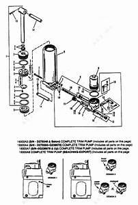 Mercury  Mariner 60 3 Cyl   Manual Tilt Components