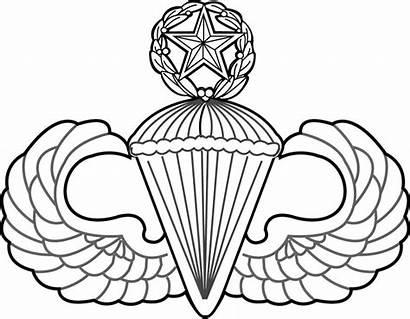 Badge Master Parachutist Svg Wings Airborne Vector