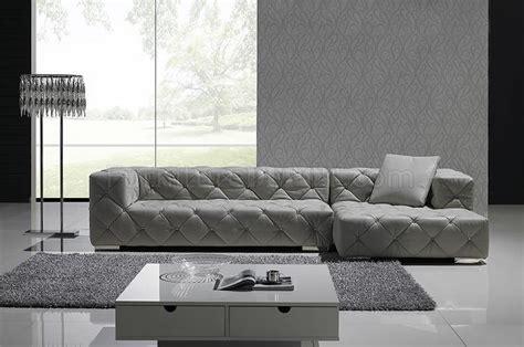 Gray Modern Sofa by Grey Italian Leather Modern Sectional Sofa W Crystals