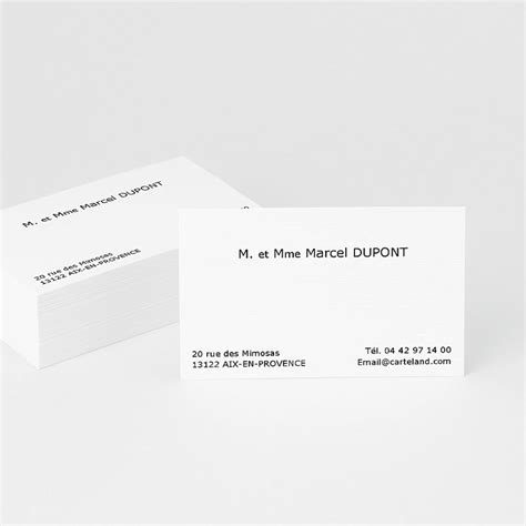 modèle carte de visite personnelle classique carte de visite carte de visite classique carteland