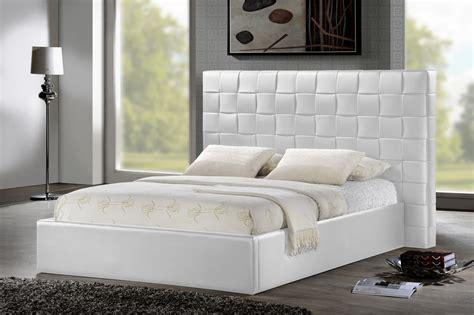 White Upholstered Headboard by Baxton Studio Bbt6352 White Prenetta White Modern