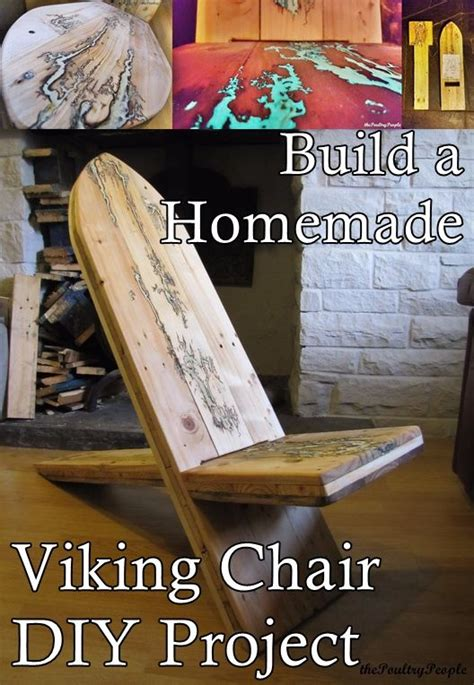 build  homemade viking chair diy project homesteading