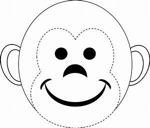 image gallery monkey face template With monkey birthday cake template