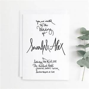 Calligraphy wedding invitations by de fraine design london for Calligraphy wedding invitations london