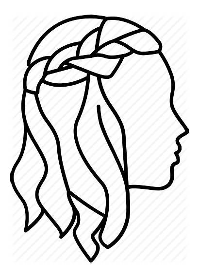 Hair Braided Outline Transparent Drawing Clipart Hairstyles
