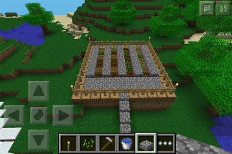 simple wheat garden  minecraft pe