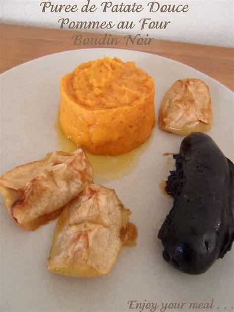 cuisiner la patate douce au four purée de patate douce boudin noir pommes au four cathy