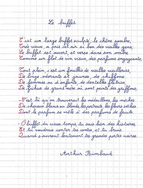 Poème D'arthur Rimbaud  Le Buffet  Petits Poèmes En